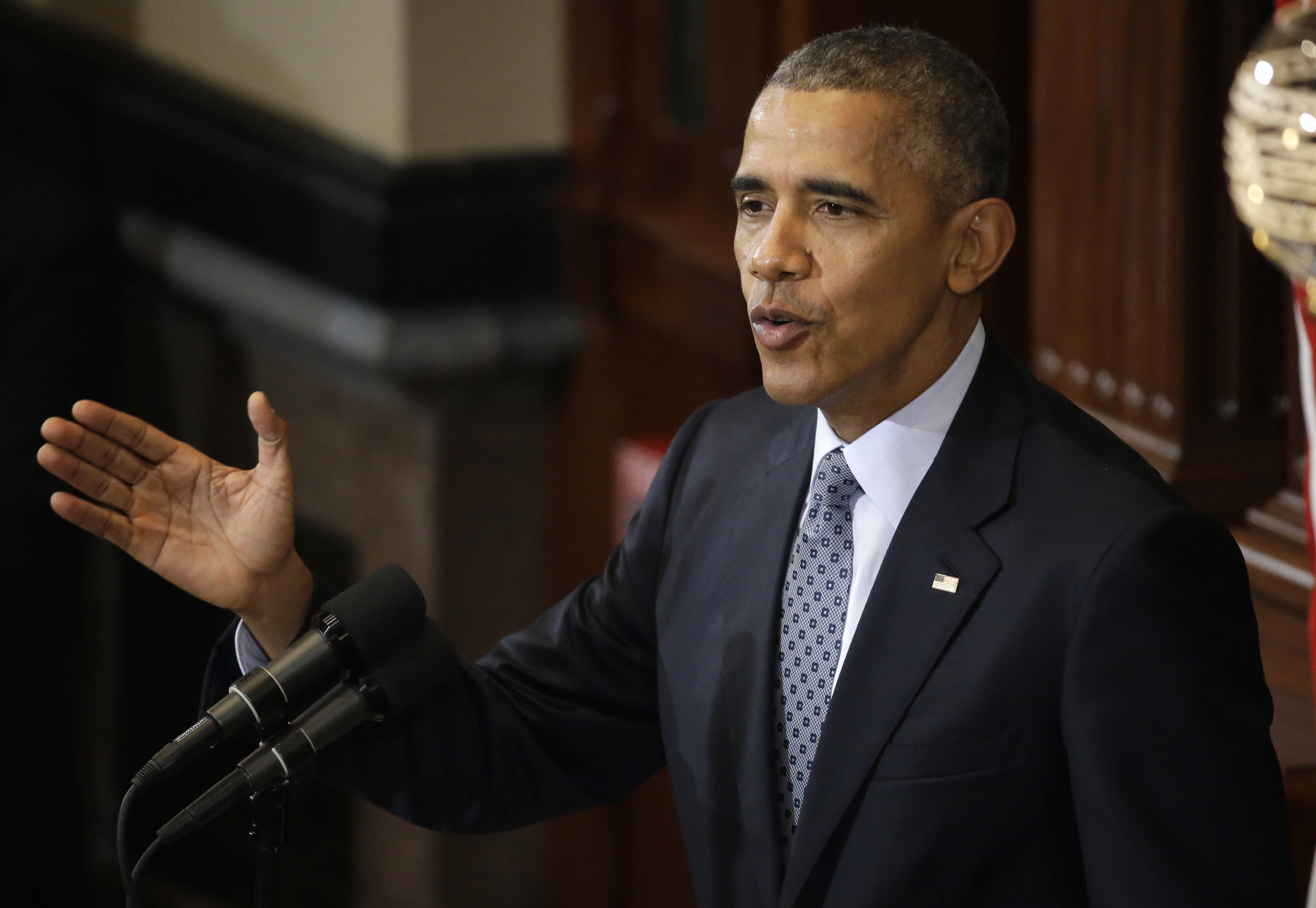 President Barack Obama at the Illinois State Capitol in Springfield, on Feb. 10, 2016.