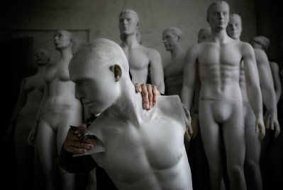 A Lucky Human mannequin factory employee polishes a mannequin, in the booming southern Chinese city of Shenzhen, Dec. 29, 2007. The factory produces around 25,000 mannequins a year, mainly for export to Europe and the United States.