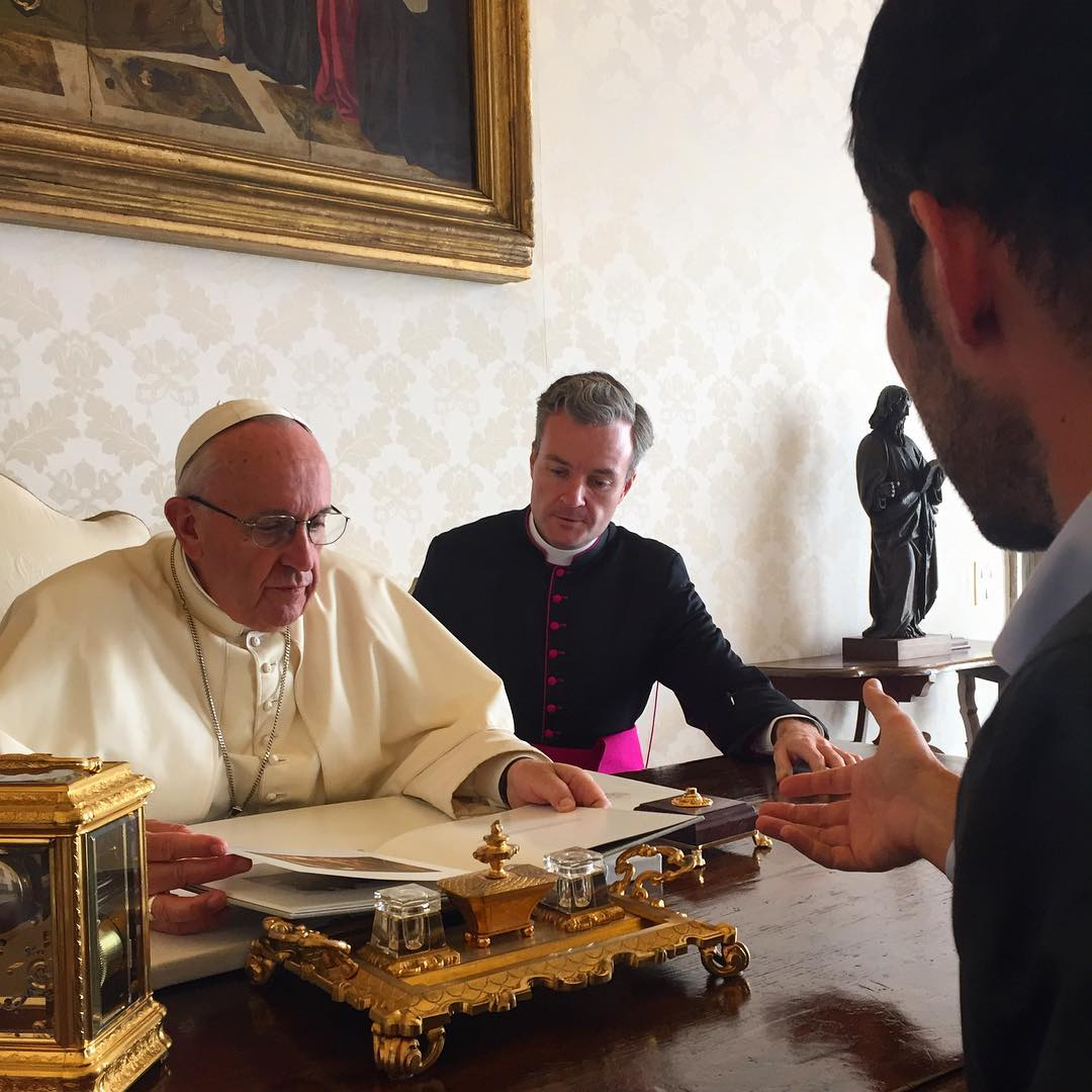 We had the chance to meet with Pope Francis this afternoon in Rome to discuss the power of images to bring people closer together.