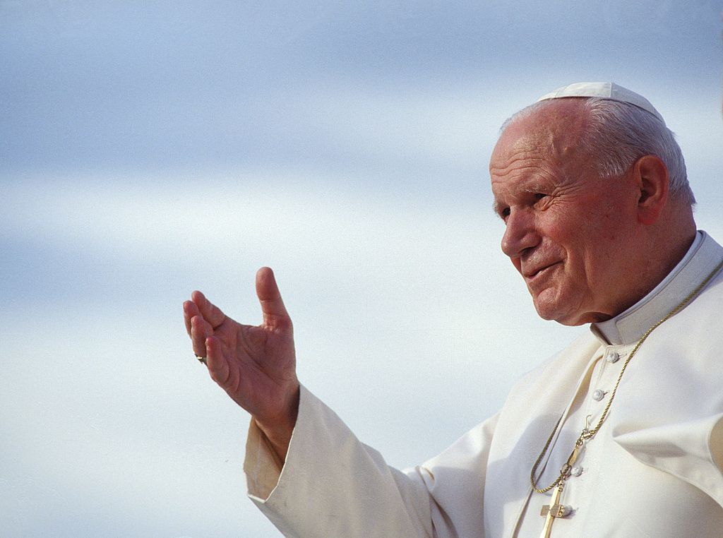 Pope John Paul II in Papua, Indonesia, in January 1995