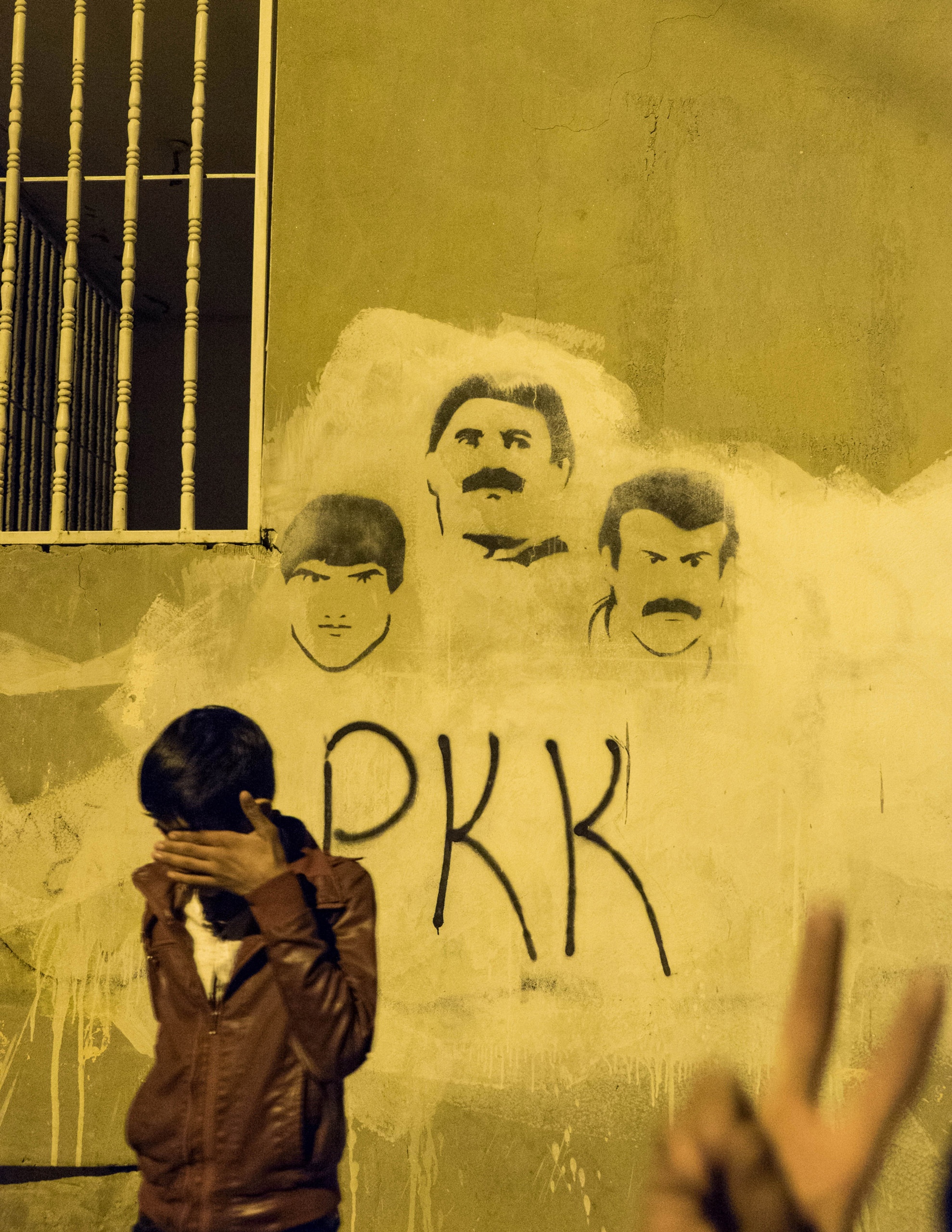 Cudi, an autonomous neighborhood in Cizre, on Nov. 6, 2015. Since July, several neighborhoods in Cizre declared autonomy and groups of young Kurds have taken up arms and raise barricades to prevent the advance of the Turkish forces.