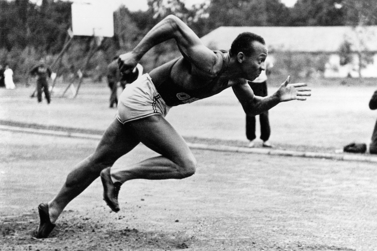 Jesse Owens (James Cleveland Owens) runs at the Olympic Summer Games in Berlin in 1936