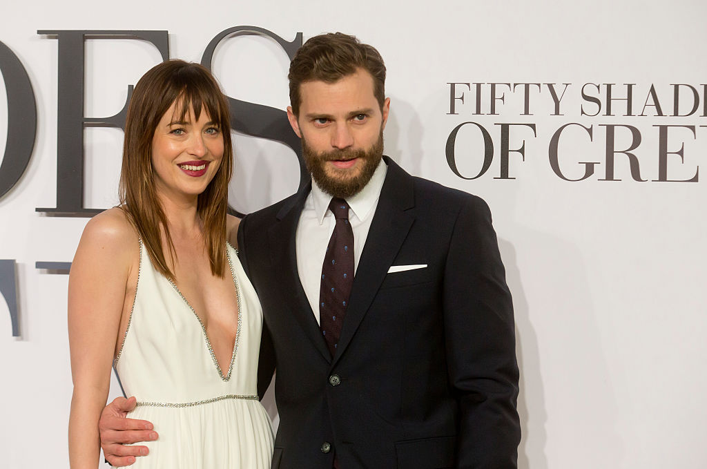 Dakota Johnson and Jamie Dornan attend the UK Premiere of  Fifty Shades Of Grey  at Odeon Leicester Square in London, Feb. 12, 2015.