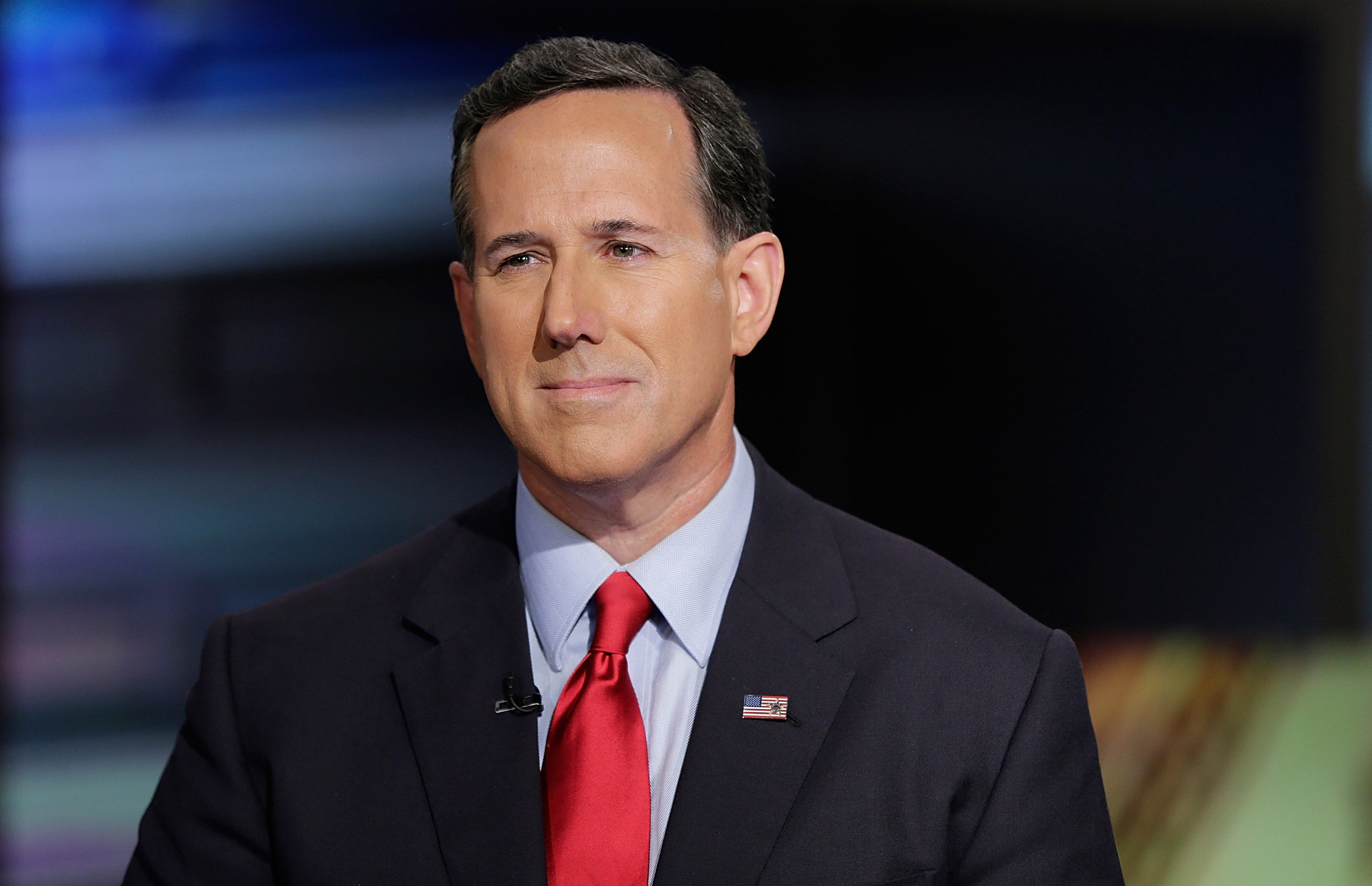 Rick Santorum visits  Cavuto: Coast To Coast  at FOX Studios on July 22, 2015 in New York City.