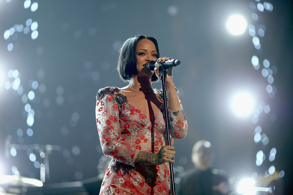 Rihanna at the 2016 MusiCares Person of the Year honoring Lionel Richie at the Los Angeles Convention Center on February 13, 2016 in Los Angeles, California.