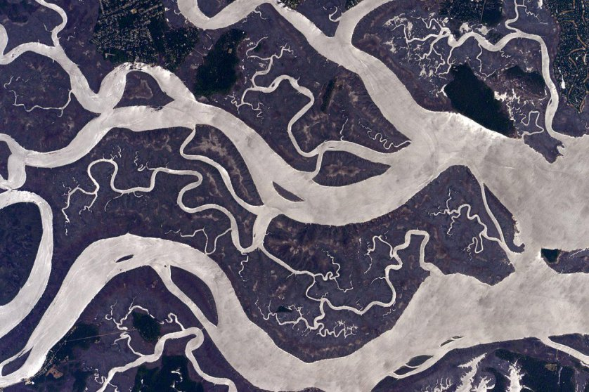 """""""I found these interesting waters on the US East Coast. #YearInSpace"""" via Twitter on April 26, 2015."""