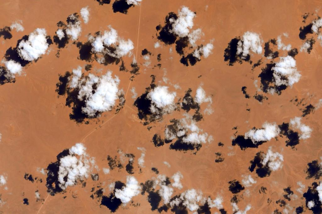 """#EarthArt Everyone likes cloud nine. What's wrong with the others? They're all amazing from here. #YearInSpace""<a href=""https://twitter.com/StationCDRKelly/status/629721709046710272"" target=""_blank"">—via Twitter</a> on Aug. 7, 2015."
