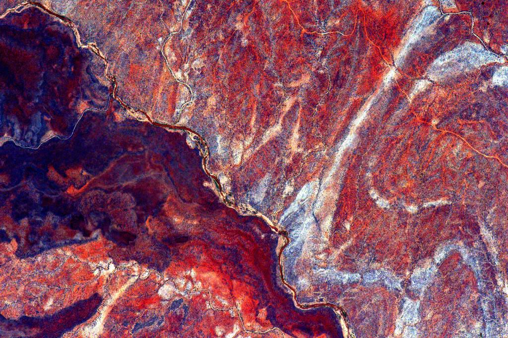 """#EarthArt Grainy, veiny but mainly amazing. #YearInSpace""<a href=""https://twitter.com/StationCDRKelly/status/633377748669501440"" target=""_blank"">—via Twitter</a> on Aug. 17, 2015."