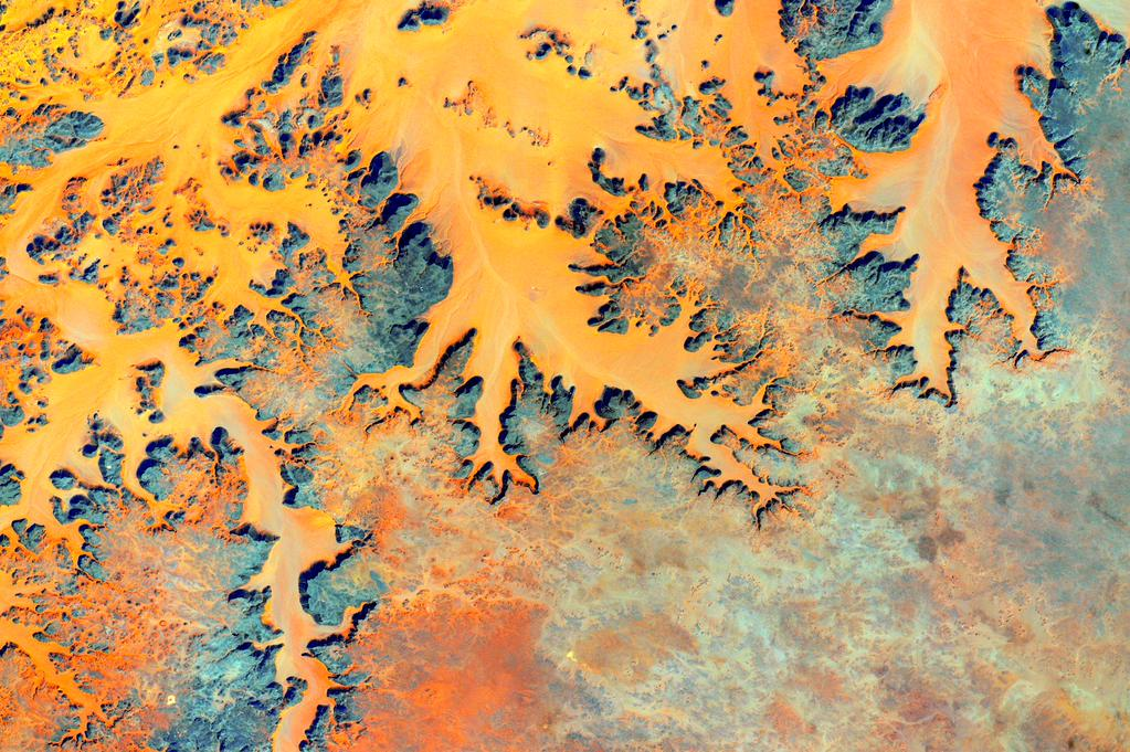 """#EarthArt Our magnificent modern Earth. #YearInSpace""<a href=""https://twitter.com/StationCDRKelly/status/640552930773327873"" target=""_blank"">—via Twitter</a> on Sep. 6, 2015."