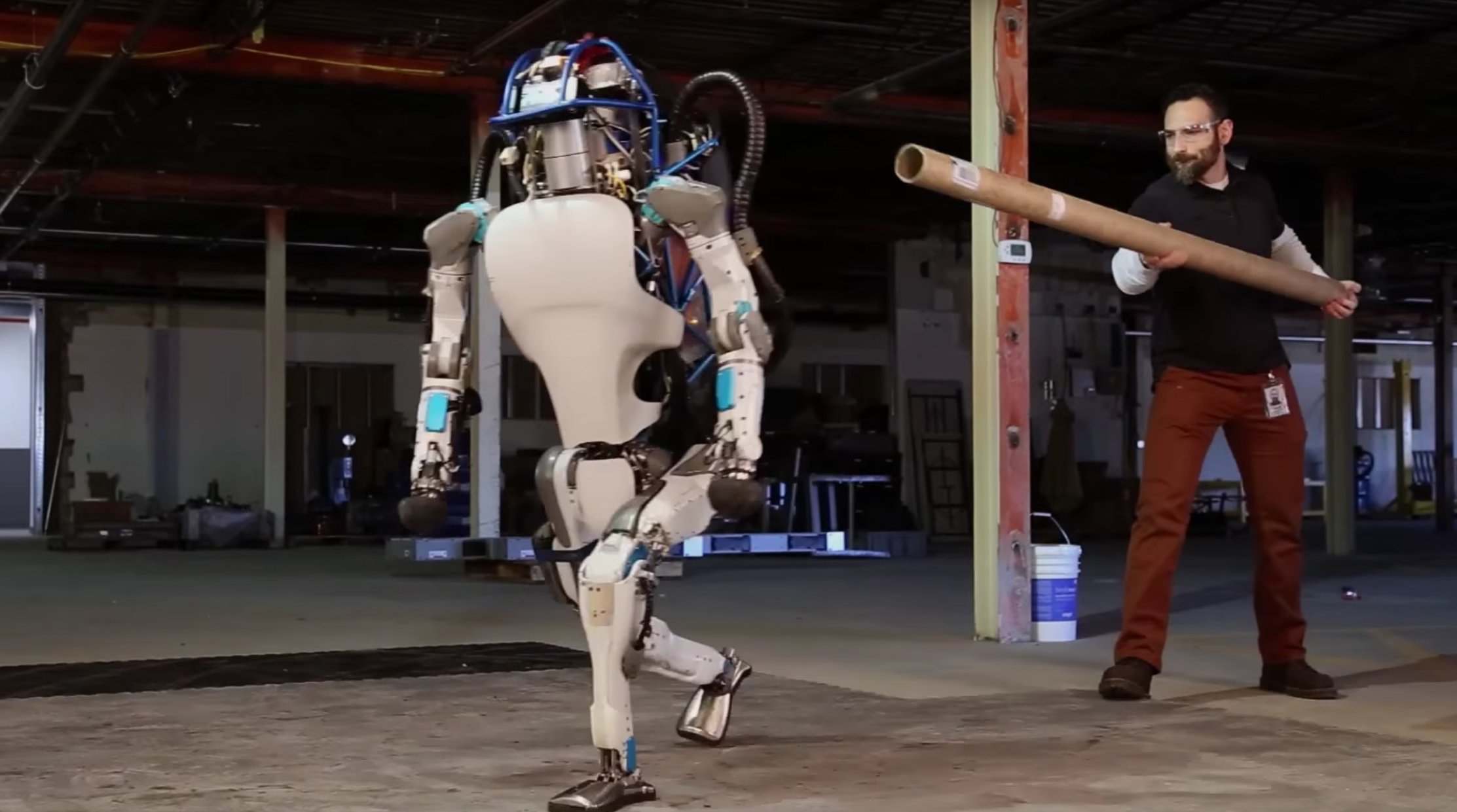 Screen shot taken Feb. 24, 2016, from a Boston Dynamics video on YouTube, 'Atlas, The Next Generation'