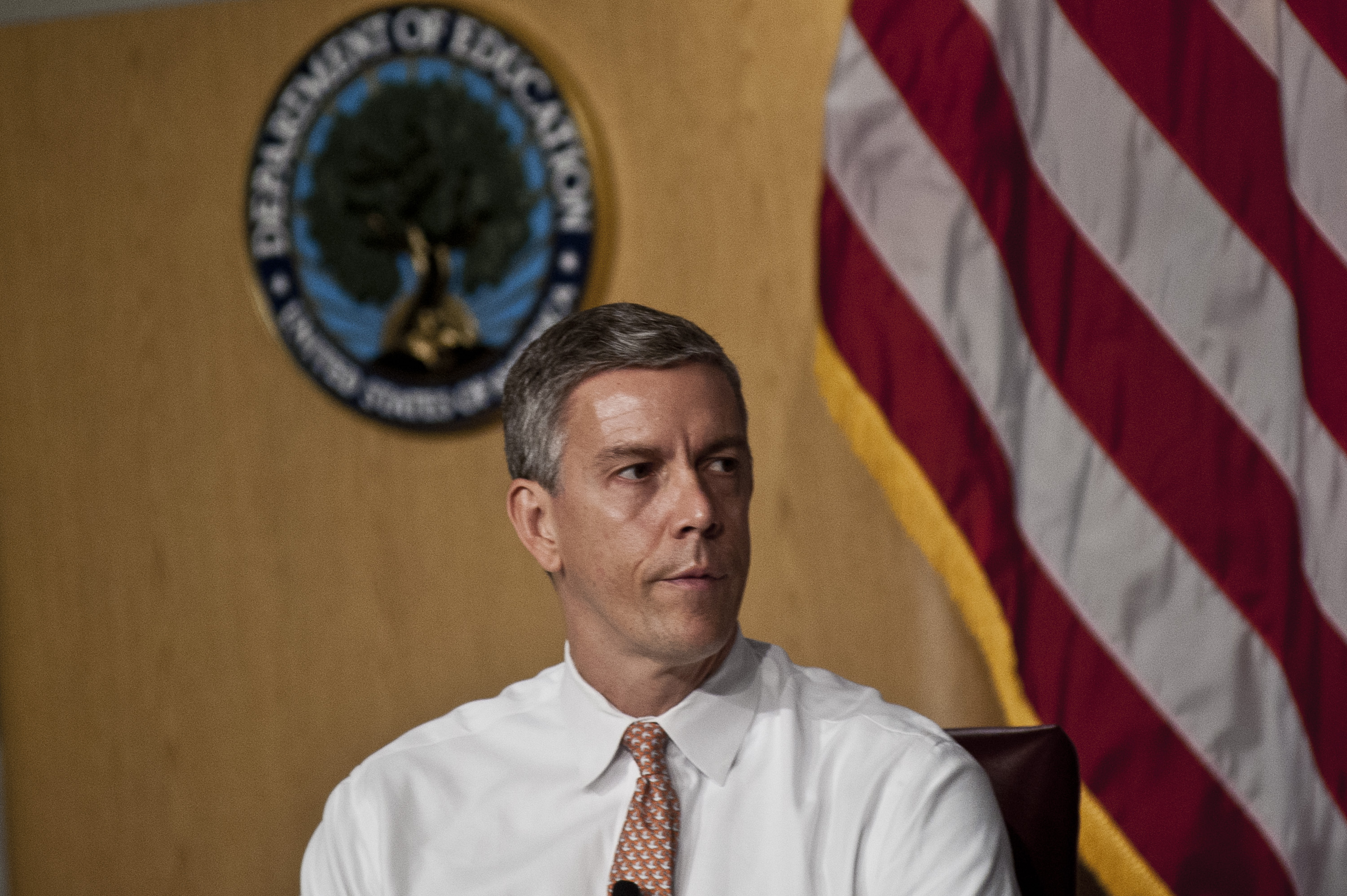 Arne Duncan at the  Let's Read. Let's Move  summer reading event series in Washington on July 18, 2012.