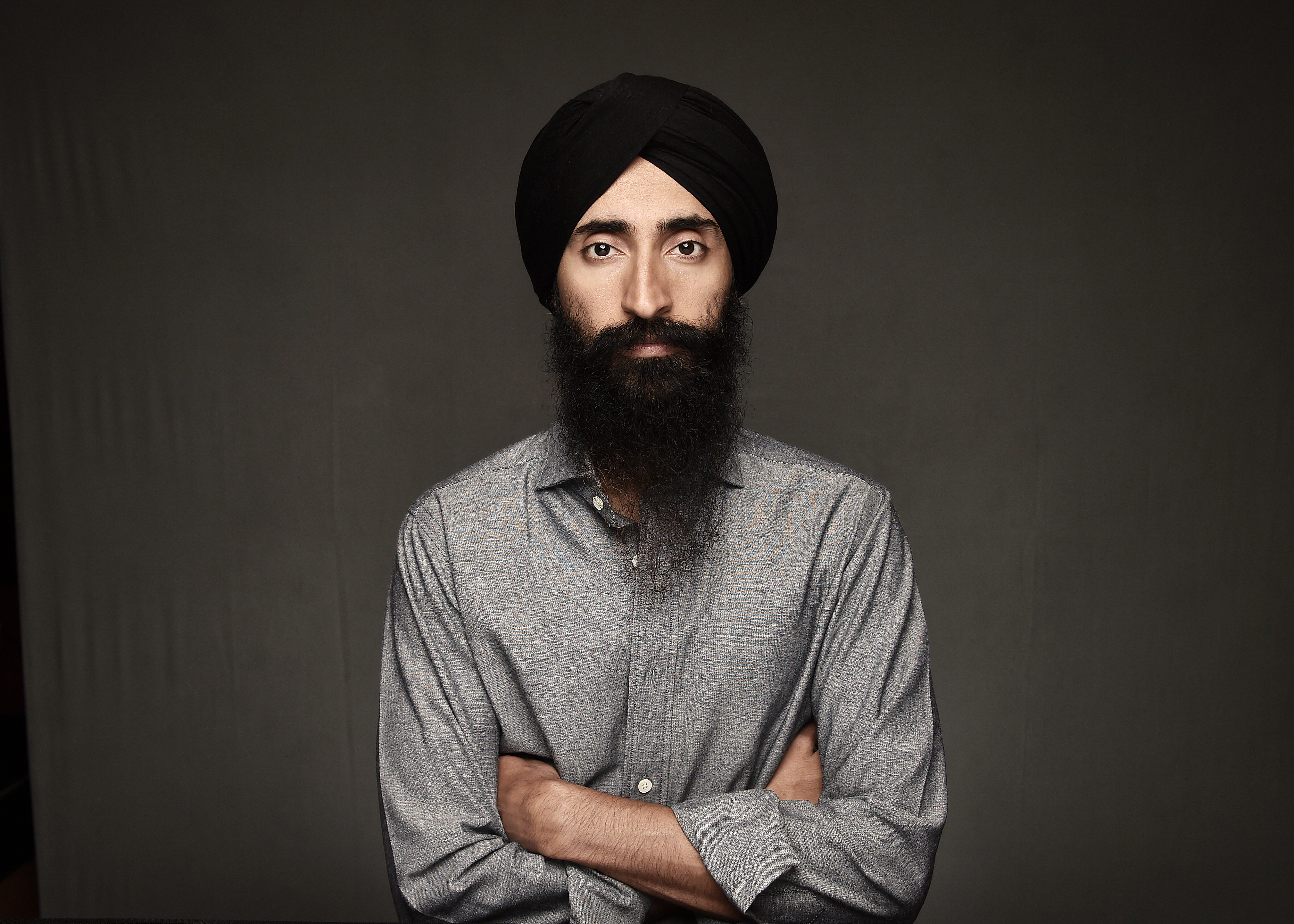 Actor Waris Ahluwalia poses during a portrait session on day seven of the 12th annual Dubai International Film Festival held at the Madinat Jumeriah Complex on Dec. 15, 2015 in Dubai, United Arab Emirates.