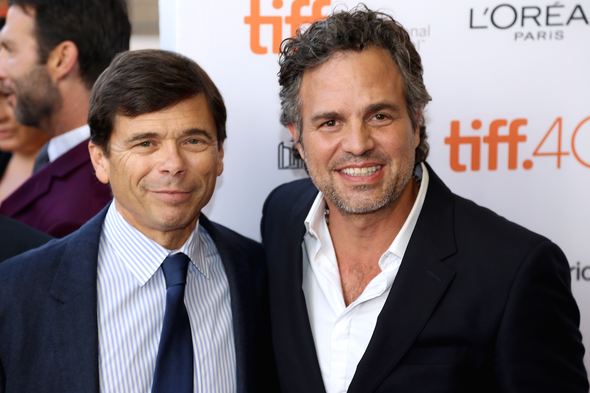 Michael Rezendes. (L) and Actor Mark Ruffalo attend the 'Spotlight' premiere during the 2015 Toronto International Film Festival on Sept. 14, 2015 in Toronto