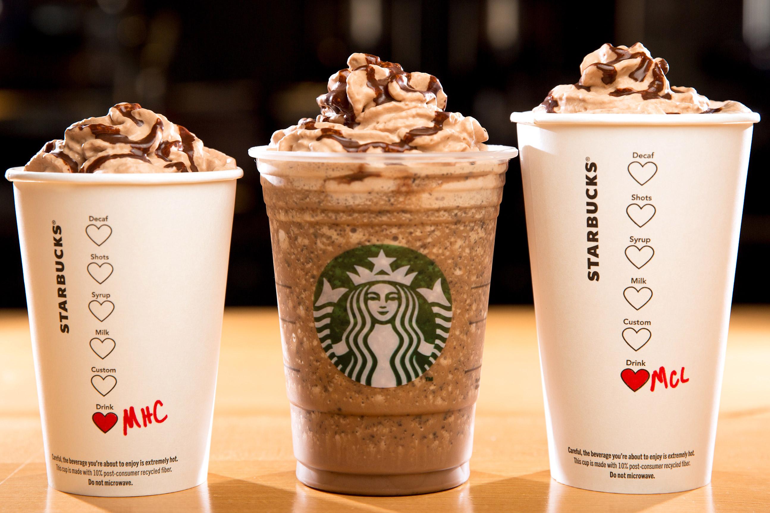 Starbucks beverages
