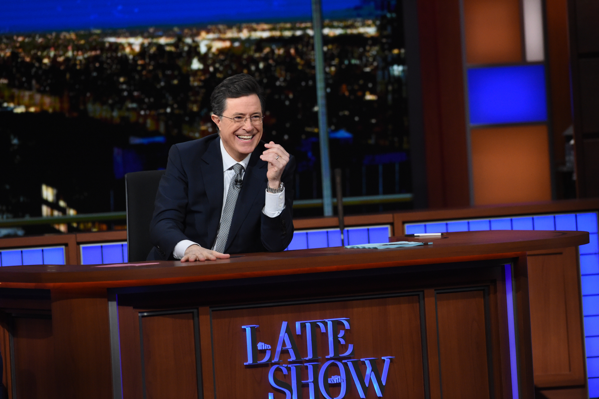 Stephen Colbert on The Late Show, Feb. 7, 2016 on the CBS Television Network.