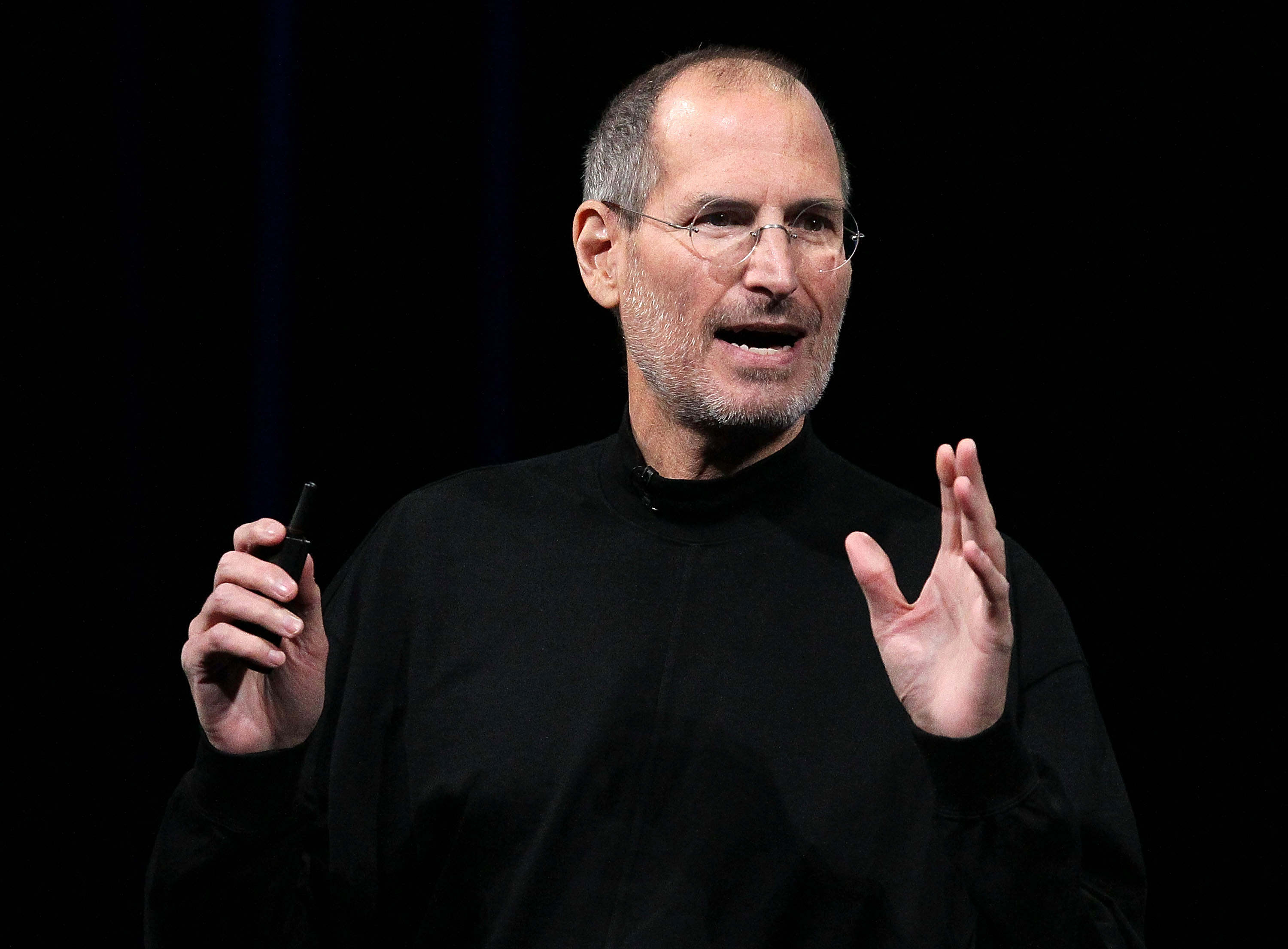 Apple Inc. CEO Steve Jobs announces the new iPad as he speaks during an Apple Special Event at Yerba Buena Center for the Arts January 27, 2010 in San Francisco, California.