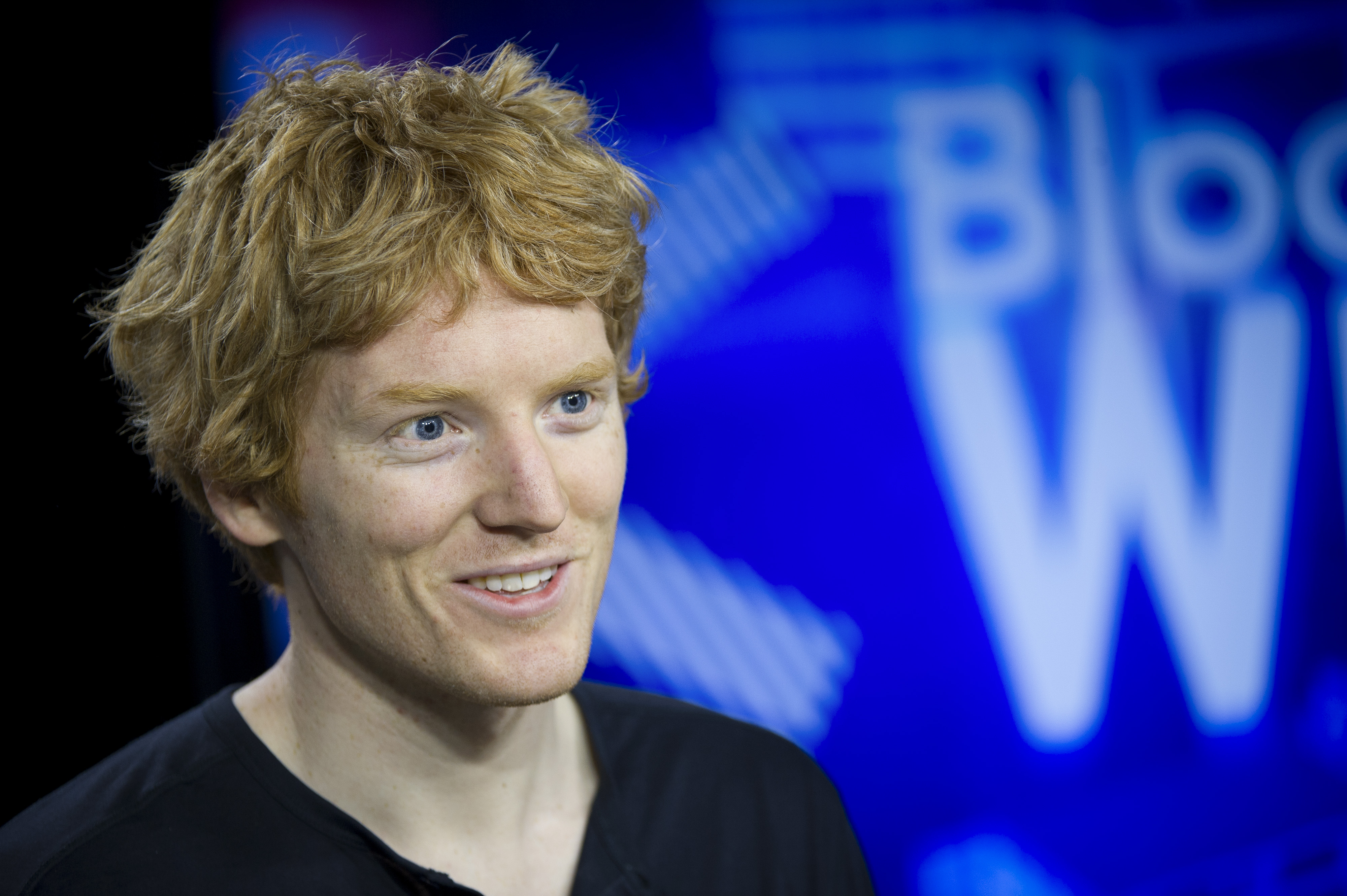 Patrick Collison, co-founder and chief executive officer of Stripe Inc., speaks during a Bloomberg West Television interview in San Francisco, California, on Tuesday, March 18, 2014.