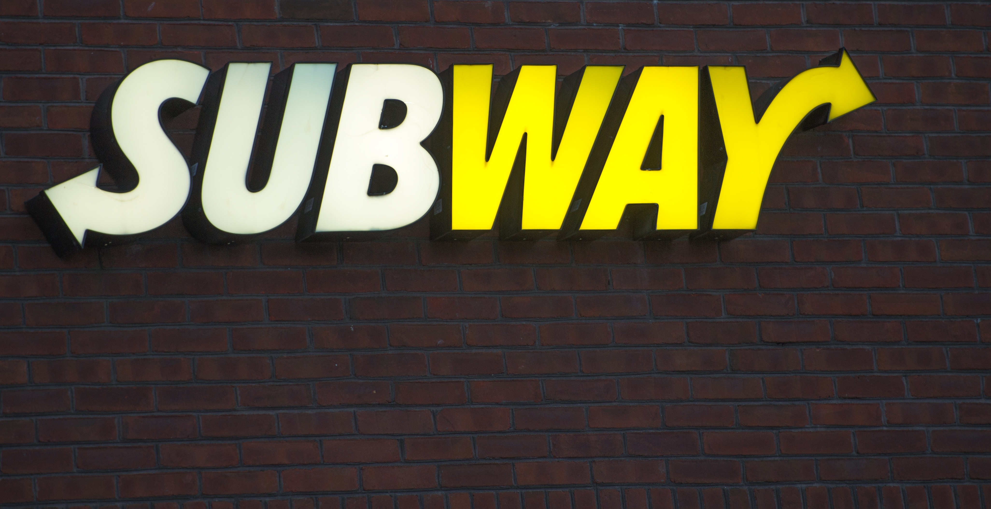 The Subway restaurant logo is seen in Chantilly, Virginia on January 2, 2015.
