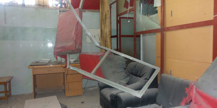 A handout photo released by Doctors Without Borders (MSF) on Feb. 9, 2016, shows a room inside the facility after the bombing in Tafas, Syria.