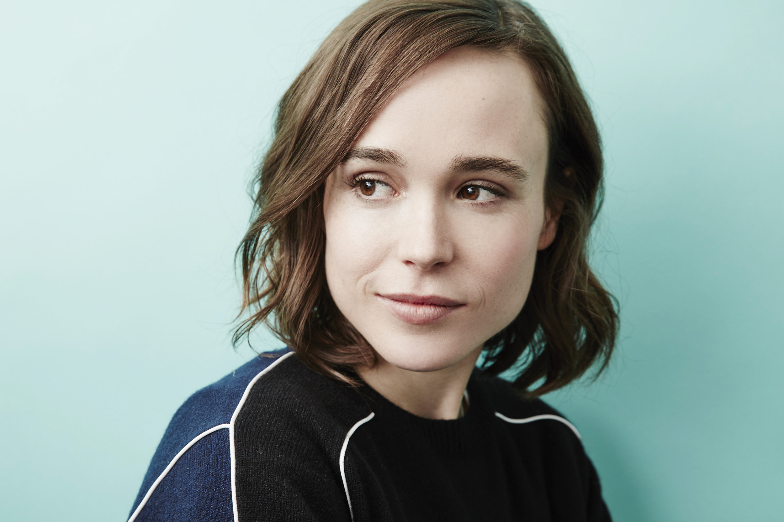 Ellen Page of 'Tallulah' poses at the 2016 Sundance Film Festival Getty Images Portrait Studio in Park City, Utah on Jan. 24, 2016.