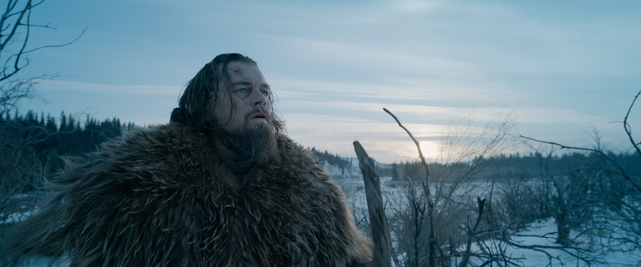 Leonardo DiCaprio as Hugh Glass in 'The Revenant.'