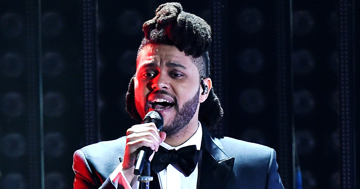 The Weeknd performs during the 58th GRAMMY Awards at Staples Center on Feb. 15, 2016 in Los Angeles.