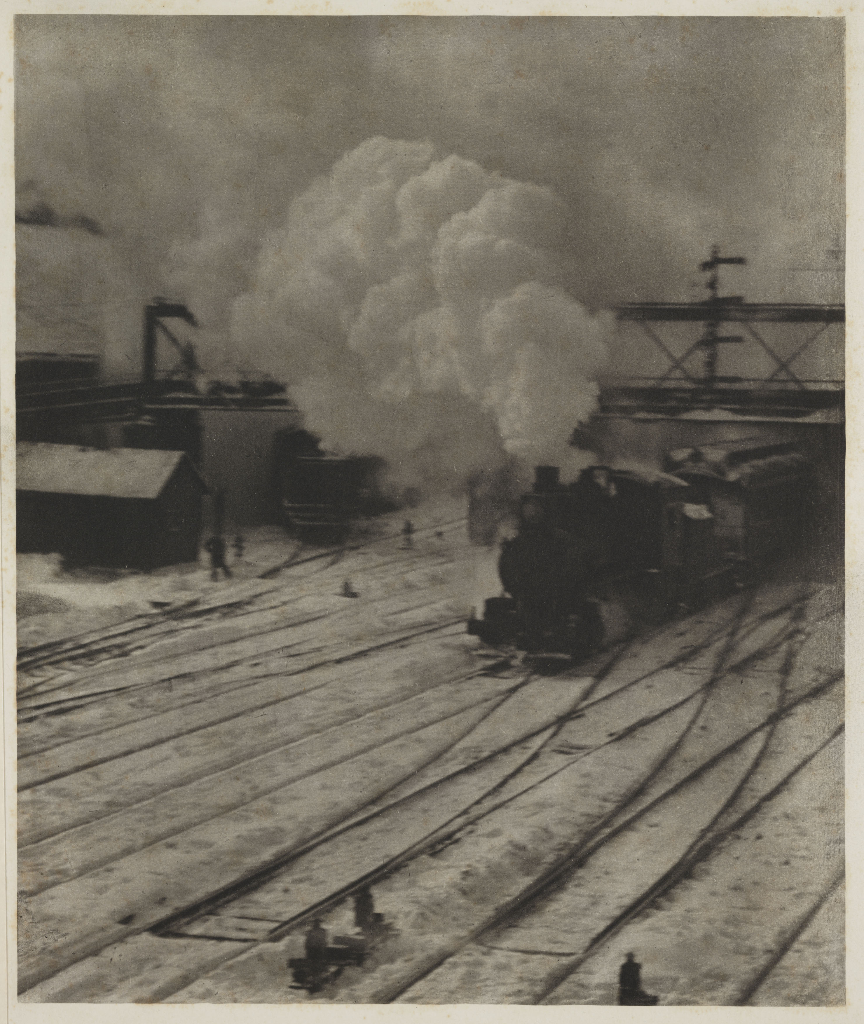 'The New York Central Yards', 1904.