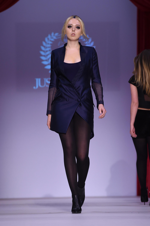 Tiffany Trump walks the runway during Just Drew fashion week at Gotham Hall on Feb. 14, 2016 in New York City.