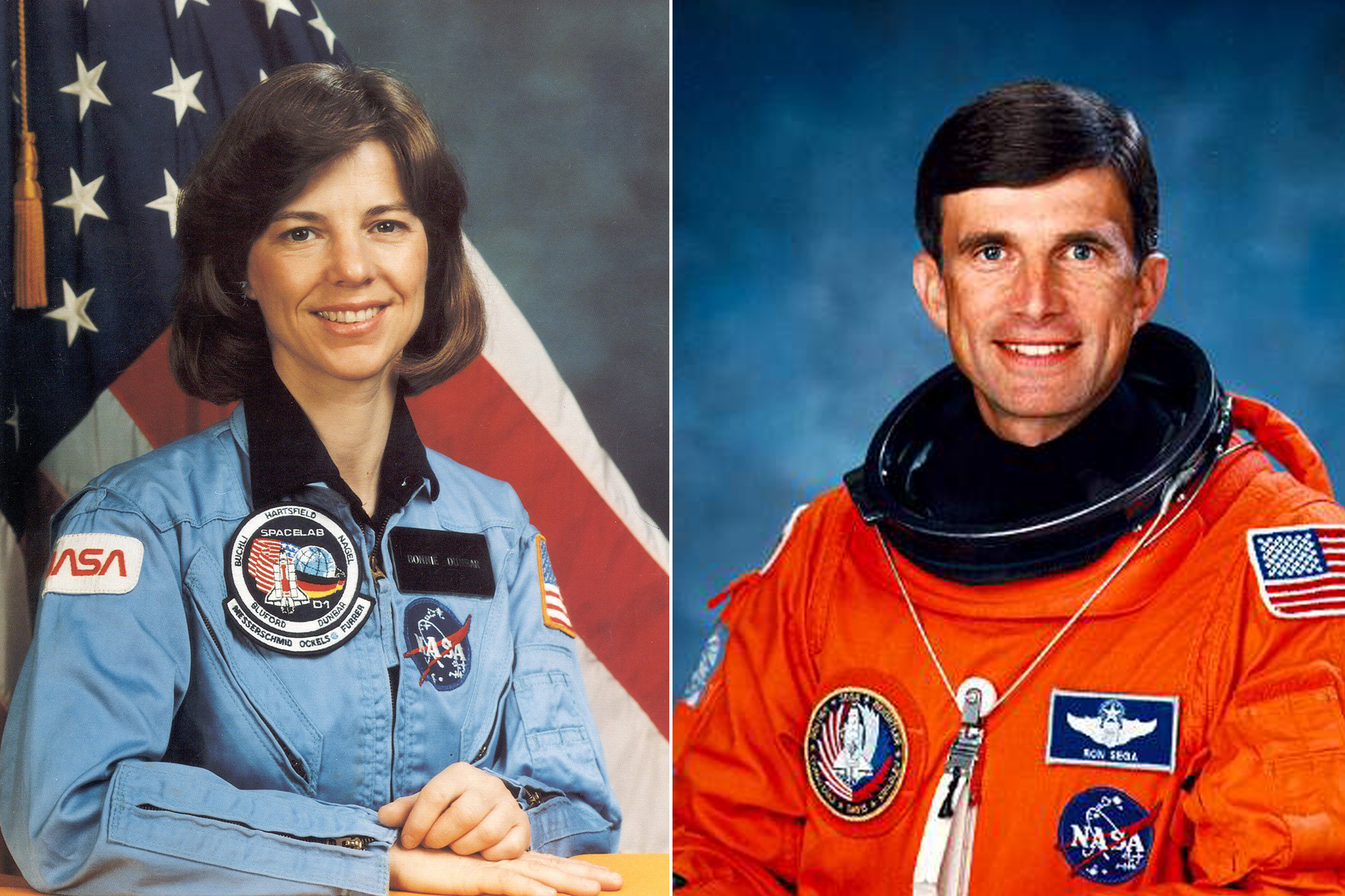 Bonnie Dunbar and Ron Sega were married in 1988.  Dunbar is a veteran of five flights, logging more than 1,200 hours in space.  Sega was an astronaut for five years, during which he flew aboard STS-60, the first joint U.S./Russian Space Shuttle Mission, launched in 1994.