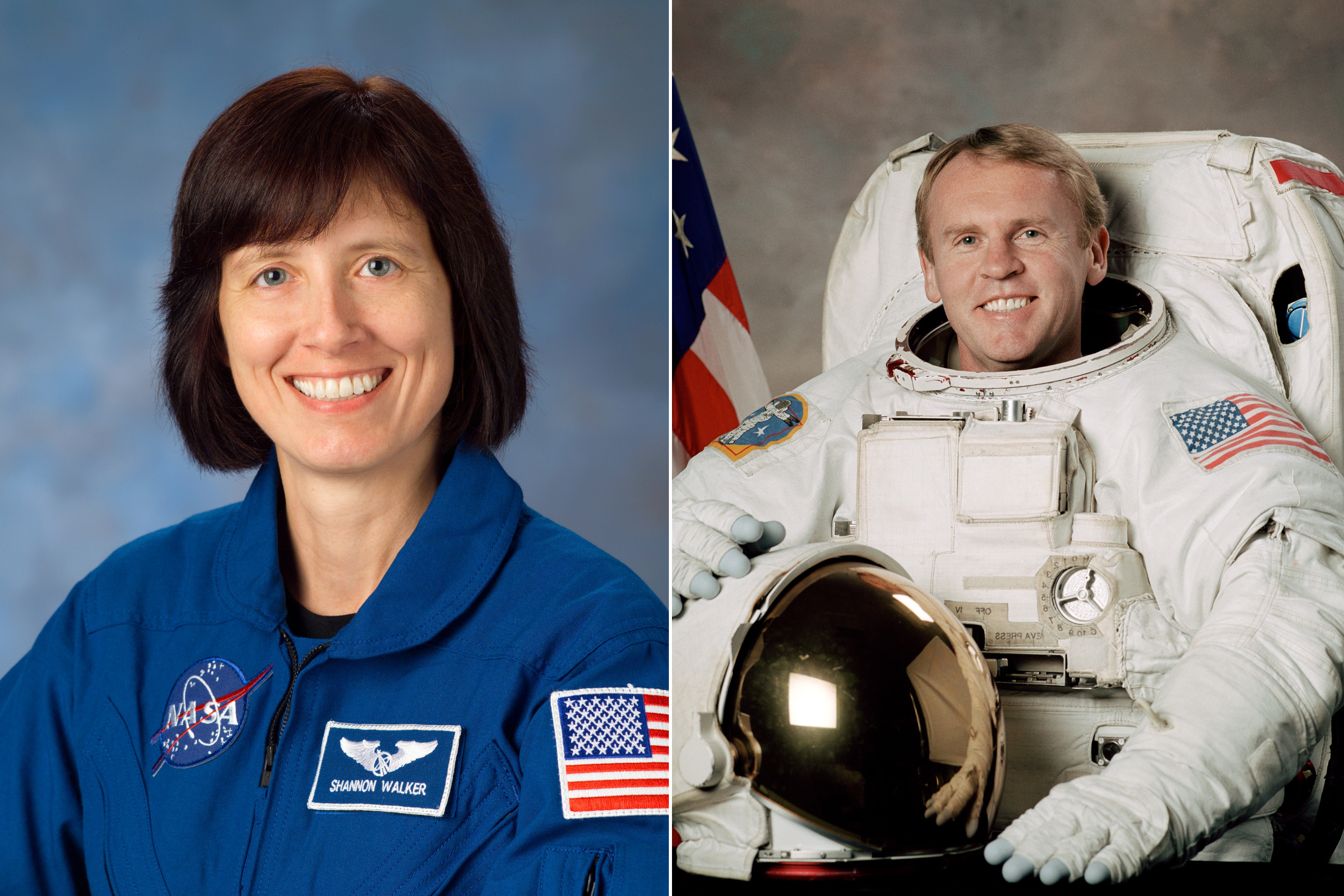 Shannon Walker and Andy Thomas were married in 2005.  Thomas is a veteran of four space flights including 2005's STS-114 mission.  Walker launched and served as flight engineer of Russia's Soyuz spacecraft, TMA-19, in 2010 for a                               long duration mission aboard the ISS.