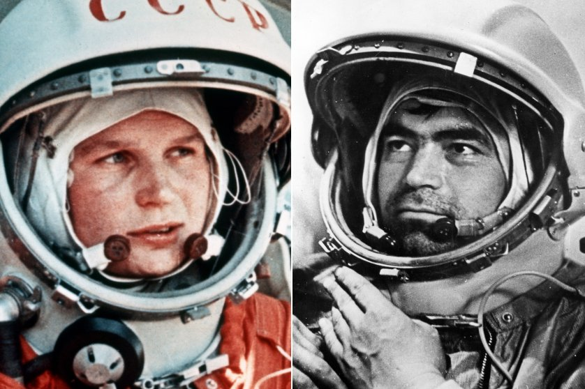 Soviet cosmonauts Valentina Tereshkova and Andrian Nikolayev were married on Nov. 3, 1963. Tereshkova was launched aboard Vostok 6 on June 16, 1963, becoming the first woman to fly in space. Andrian Nikolayev fly on two space flights during his career, Vostok 3 and Soyuz 9. The pair had one daughter, however were divorced in 1982.