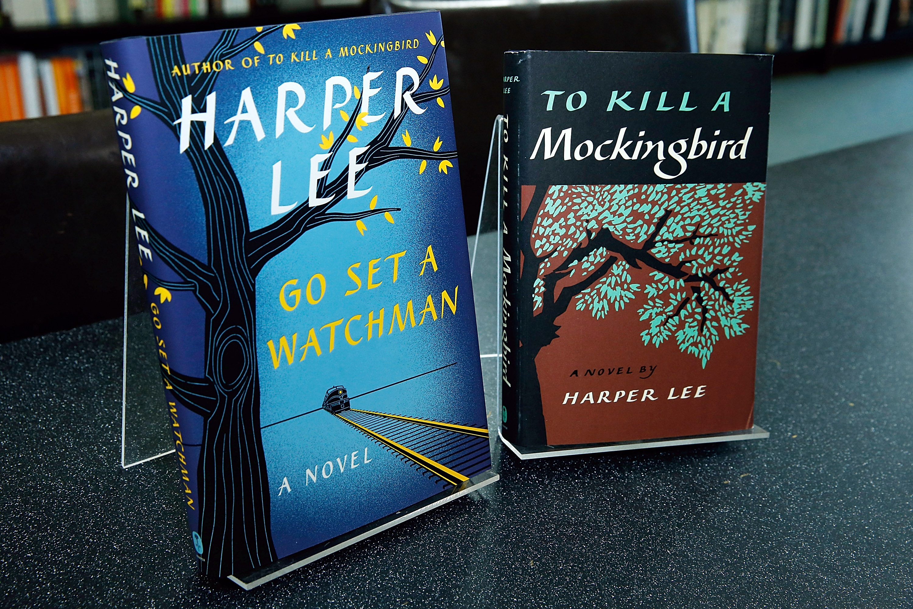 Harper Lee's recently found edition of 'Go Set a Watchman' to be released on July 14 is exhibited  along a new edition of   To Kill a Mockingbird  by the same author during the Harper Lee celebration with Wally Lamb and Leslie Uggams in conversation with Bill Goldstein at Barnes & Noble Union Square on July 13, 2015 in New York City.