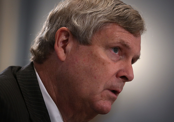 U.S. Secretary of Agriculture Tom Vilsack testifies during a hearing before the House Agriculture Committee October 7, 2015 on Capitol Hill in Washington, DC.