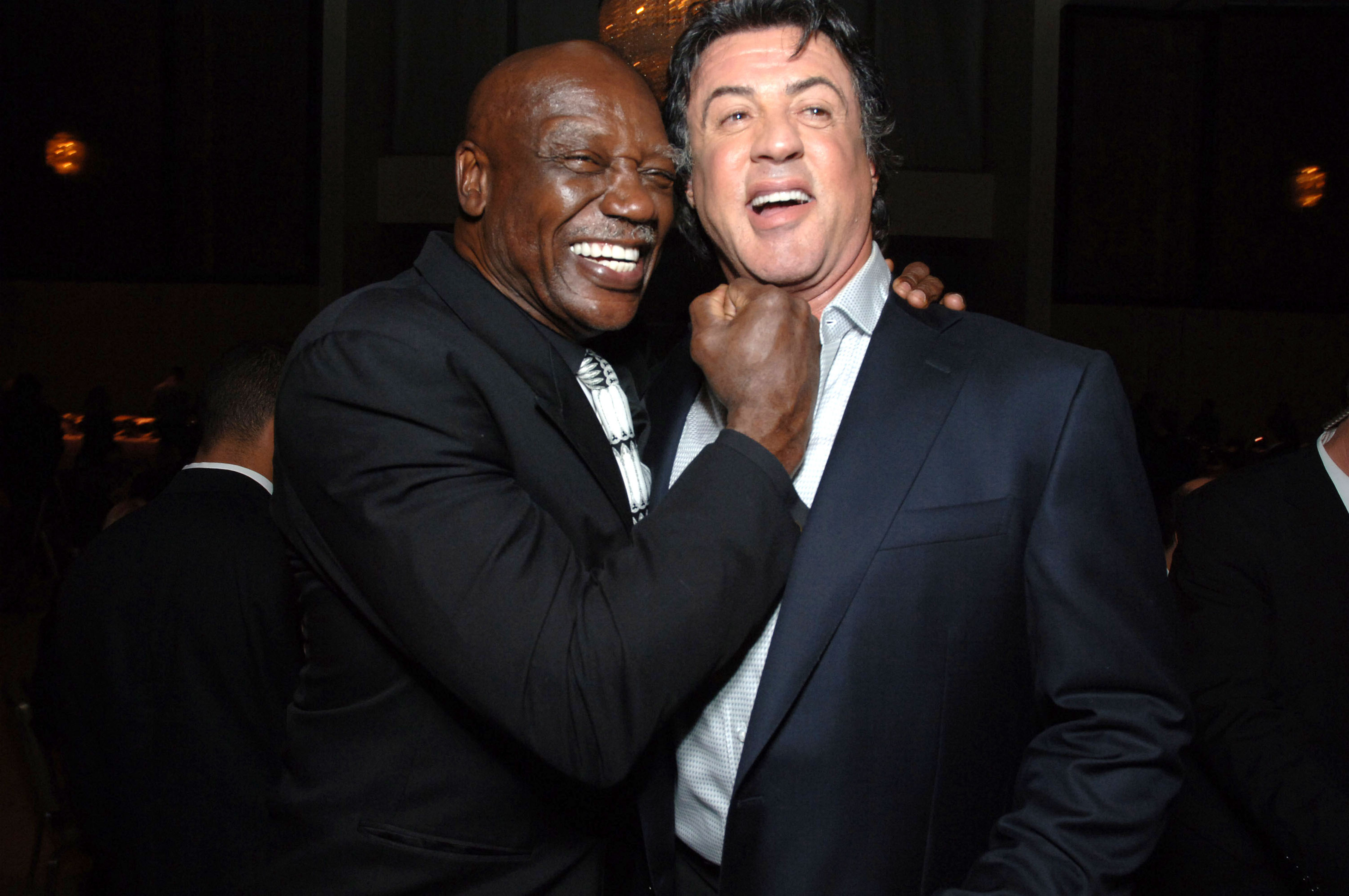 Tony Burton and Sylvester Stallone during 'Rocky Balboa' World Premiere - Arrivals at Grauman's Chinese Theatre in Hollywood, California, United States.