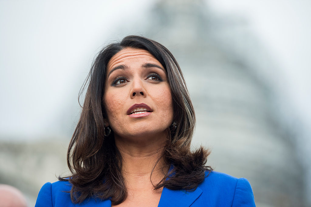 Rep. Tulsi Gabbard, D-Hawaii, speaks during a news conference on Nov. 18, 2015. Bill Clark—CQ-Roll Call,Inc.