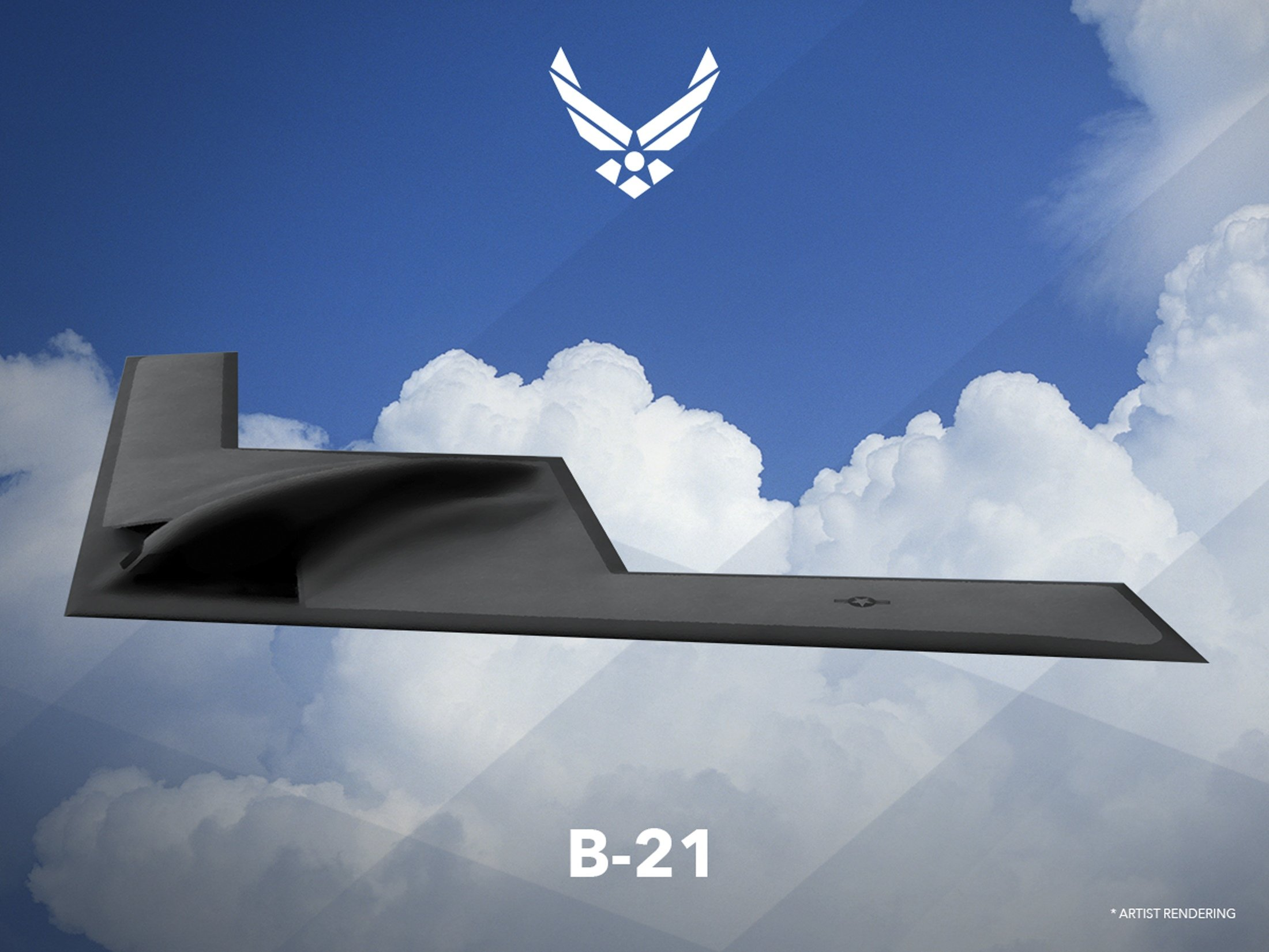 An artist rendering shows the first image of a new Northrop Grumman Corp long-range bomber B21, released on Feb. 26, 2016.
