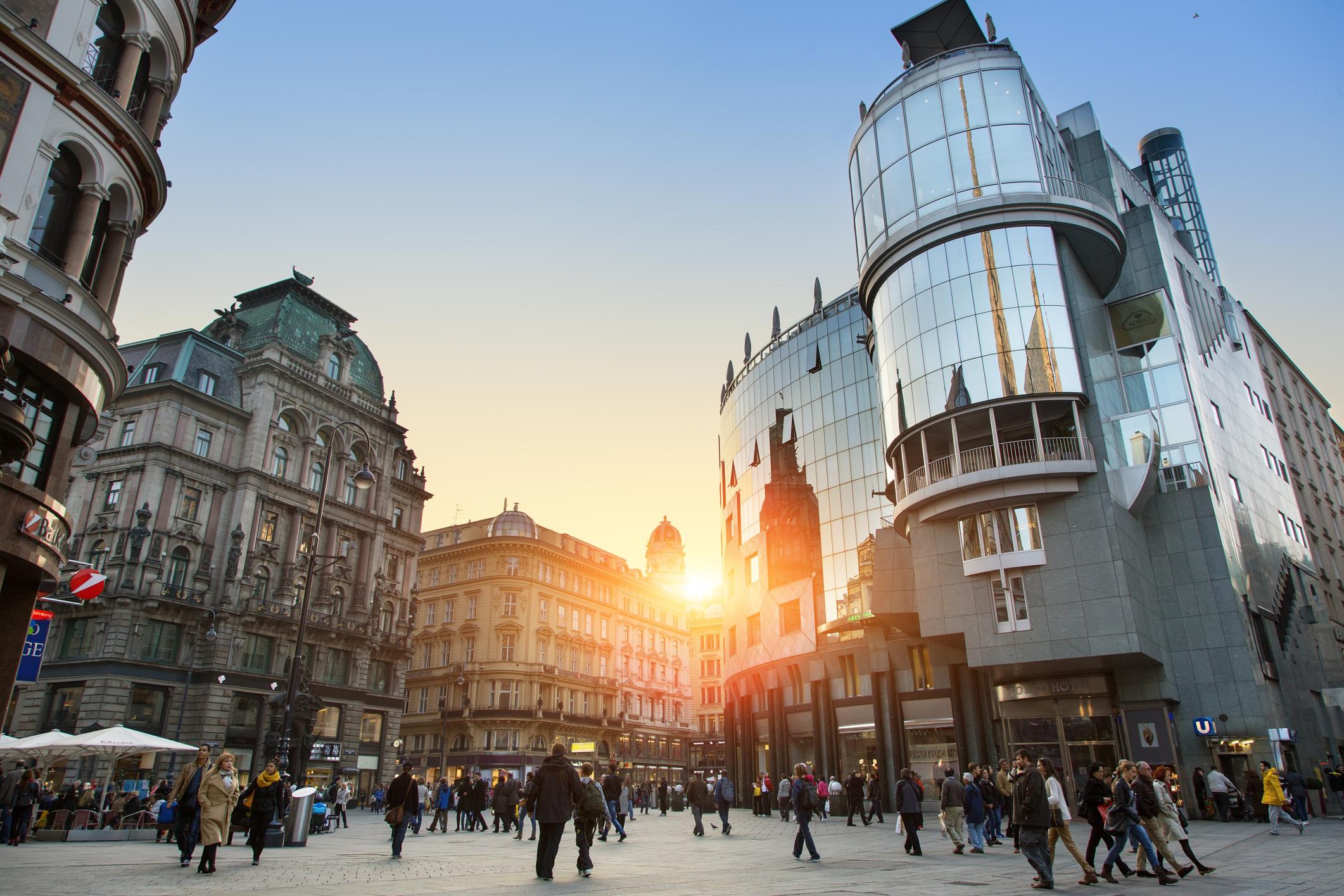 Vienna, The Stephansplatz at Sunset