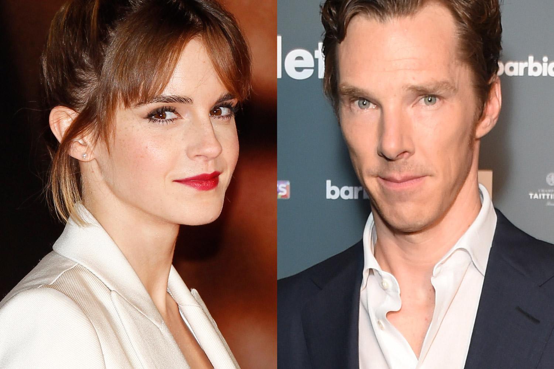 Emma Watson in Berlin on Feb. 5, 2016 (L); Benedict Cumberbatch in London on Aug. 25, 2015.