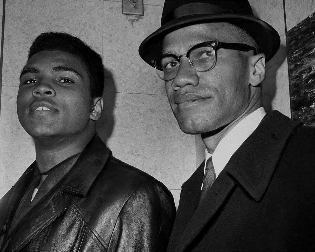Cassius Marcellus Clay (Muhammad Ali) with Malcolm X in New York City in 1964