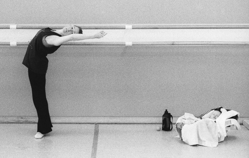 Sasha has been fed and is napping, so Tina can work out. 2003. Balancing Acts: Three Prima Ballerinas Becoming Mothers.