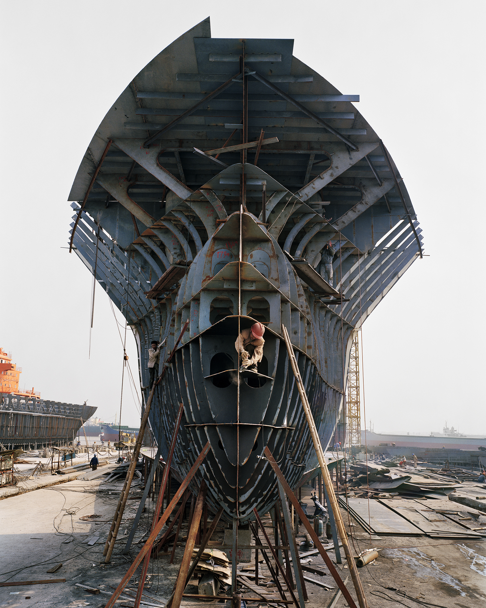 Shipyard # 12, Qili Port, Zhejiang Province, China. 2005. From the series China.