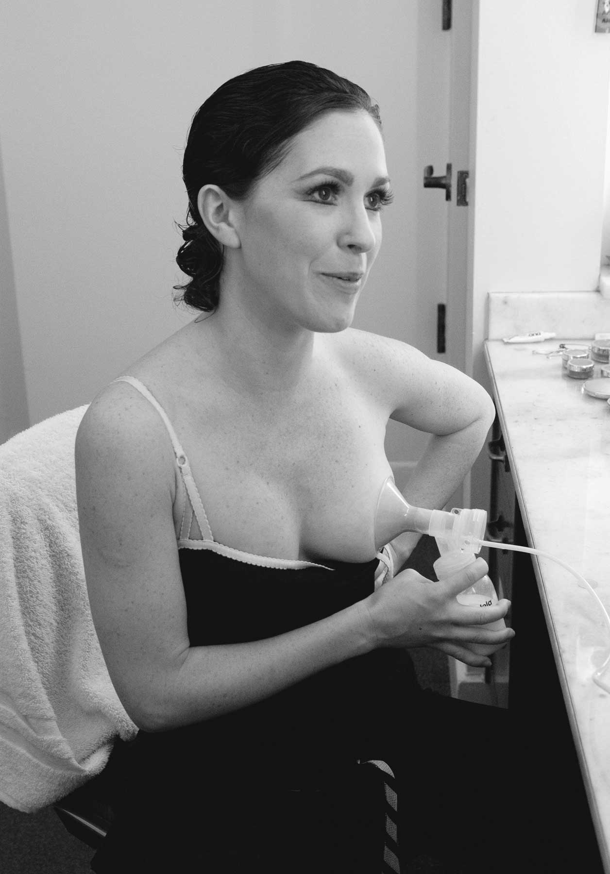 Kristin has received the ten-minute warning before her performance, so she pumps milk in her dressing room. 2009. Balancing Acts: Three Prima Ballerinas Becoming Mothers.