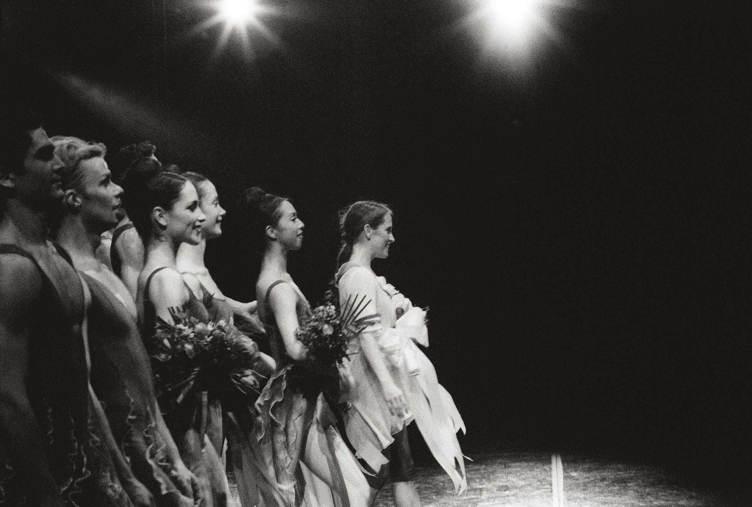Tina and cast of Night take a bow. 2000. Balancing Acts: Three Prima Ballerinas Becoming Mothers.