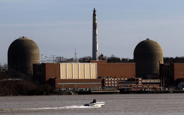 BUCHANAN, NY - MARCH 18:  A boat moves along the Hudson River in front of the Indian Point nuclear power plant March 18, 2011 in Buchanan, New York. Mario Tama—Getty Images