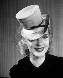 Postilion hat made of lizard skin. 1939.