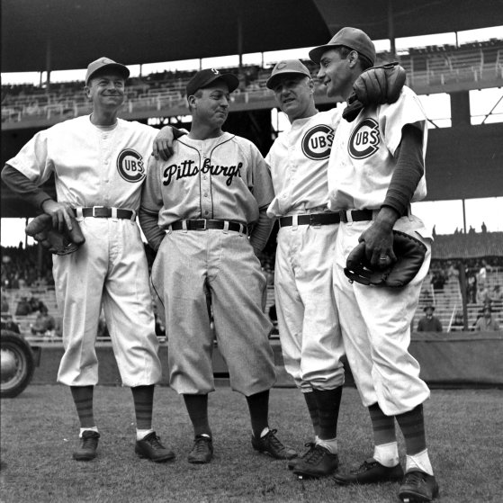 Chicago-Pittsburgh opening day, 1947.
