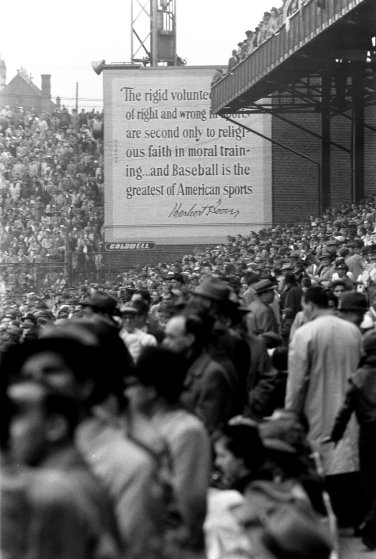 Baseball opening day, Cincinnati, 1957.