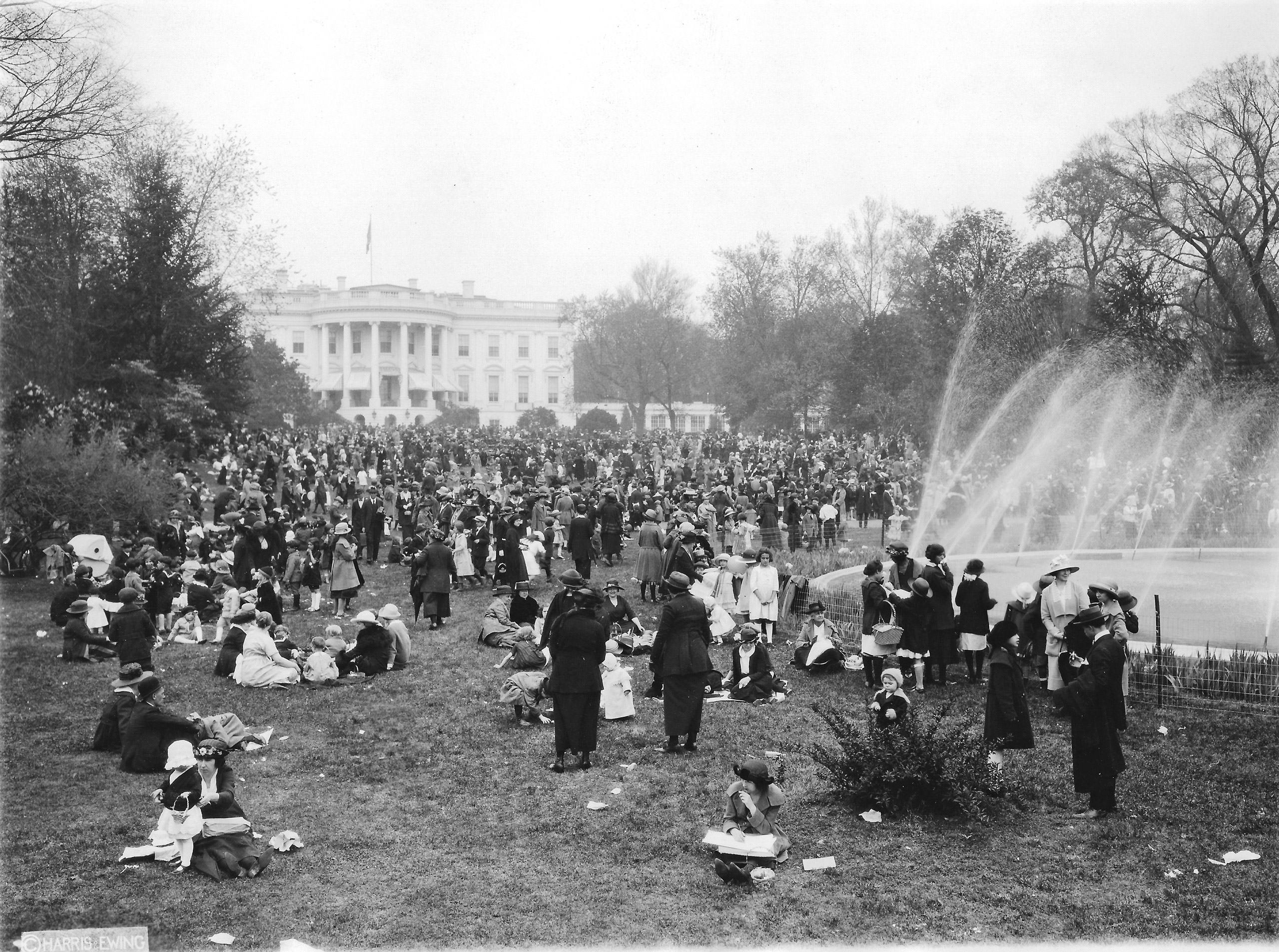 Between the wars, the White House grounds reopened for events such as the annual Easter Egg Roll, a favorite for children and a horror for the horticultural staff.