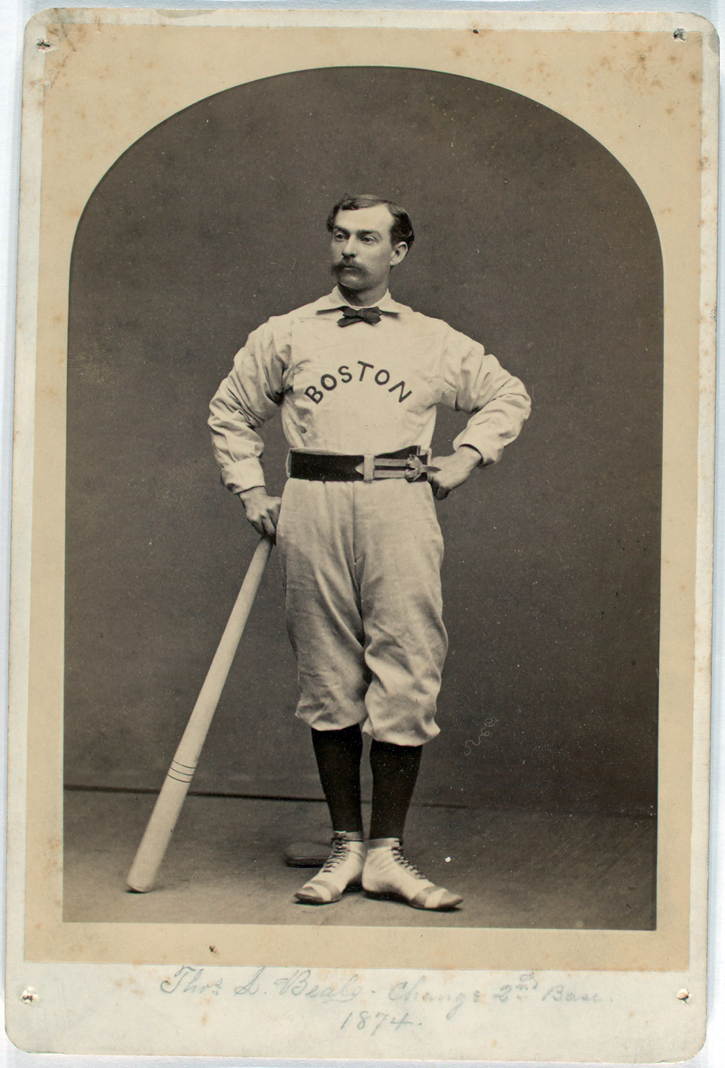 Tommy Beals, 1874 Change 2nd base. Boston. From the A. G. Spalding Baseball Collection.
