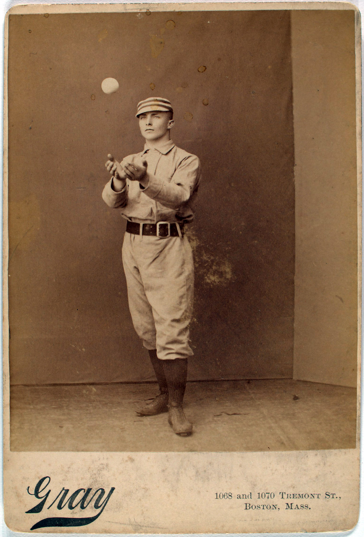Tommy McCarthy of the Boston Reds. From the A. G. Spalding Baseball Collection.